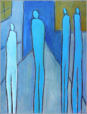 RENCONTRE by Jean Mirre - search and link Fine Art with ARTdefs.com