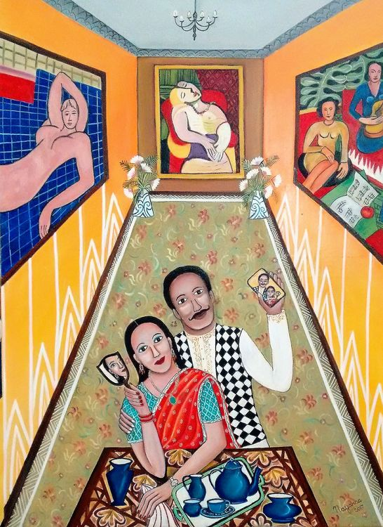 The Selfie Moment by Nayanaa Kanodia - search and link Fine Art with ARTdefs.com