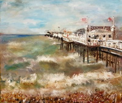 And so it would A Pier by Patrick Turner-Lee - search and link Fine Art with ARTdefs.com