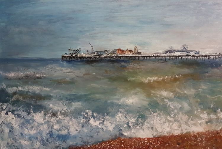 Autumn Brighton Light by Patrick Turner-Lee - search and link Fine Art with ARTdefs.com