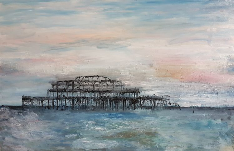 Gallant Pier by Patrick Turner-Lee - search and link Fine Art with ARTdefs.com