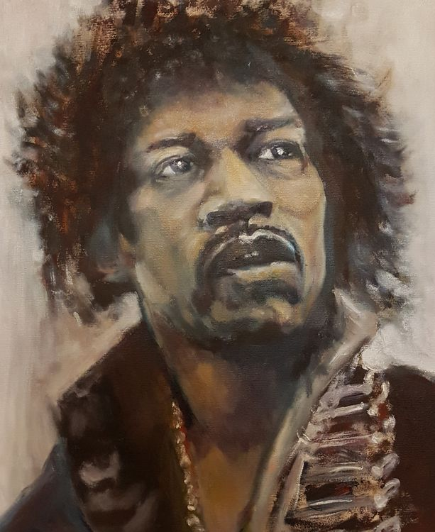 """""""Jimi"""" by Patrick Turner-Lee - search and link Fine Art with ARTdefs.com"""