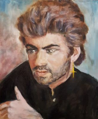 """ George Michael "" by Patrick Turner-Lee - search and link Fine Art with ARTdefs.com"