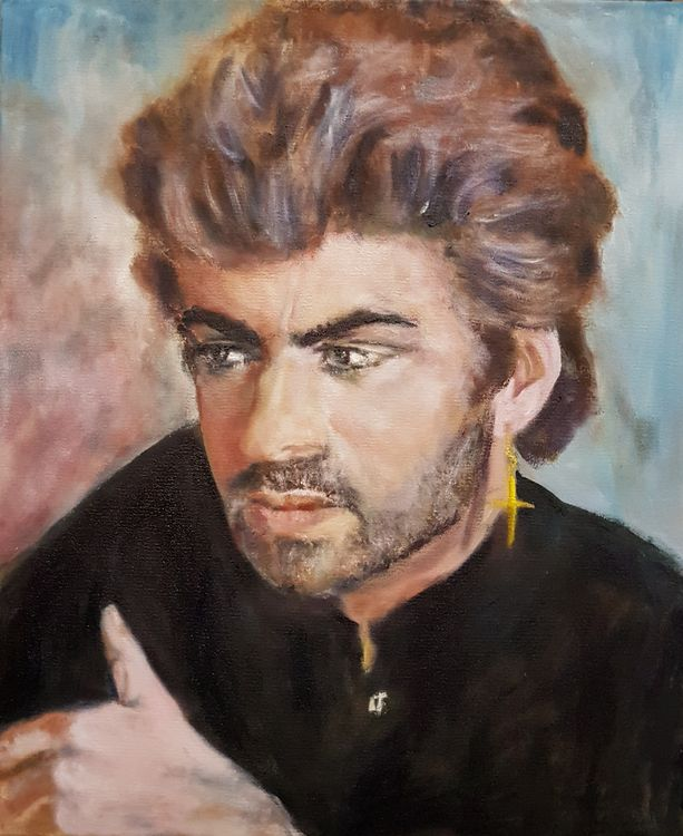 """"""" George Michael """" by Patrick Turner-Lee - search and link Fine Art with ARTdefs.com"""
