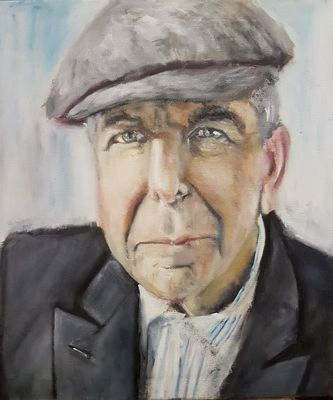 """Where the Light gets in"" Leonard Cohen by Patrick Turner-Lee - search and link Fine Art with ARTdefs.com"