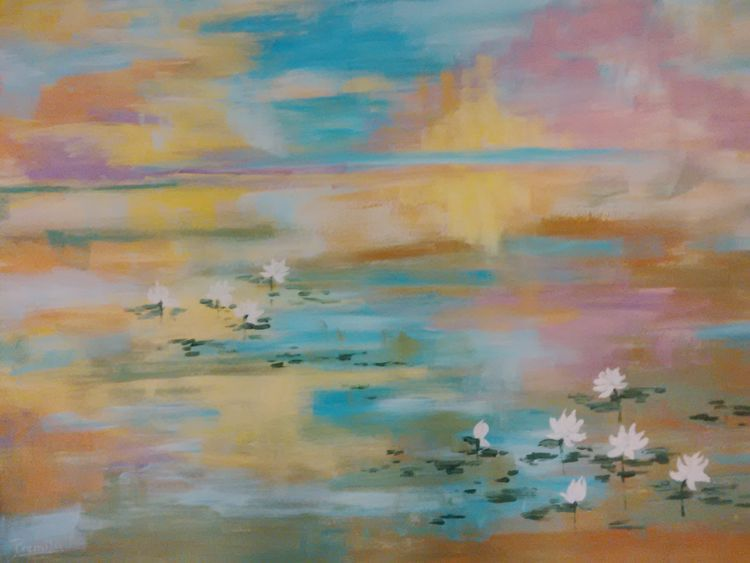 Water Lillies by Premila Singh - search and link Fine Art with ARTdefs.com