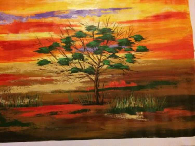 African Landscape by Premila Singh - search and link Fine Art with ARTdefs.com