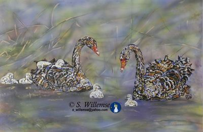 Swans by Susan Willemse - search and link Fine Art with ARTdefs.com