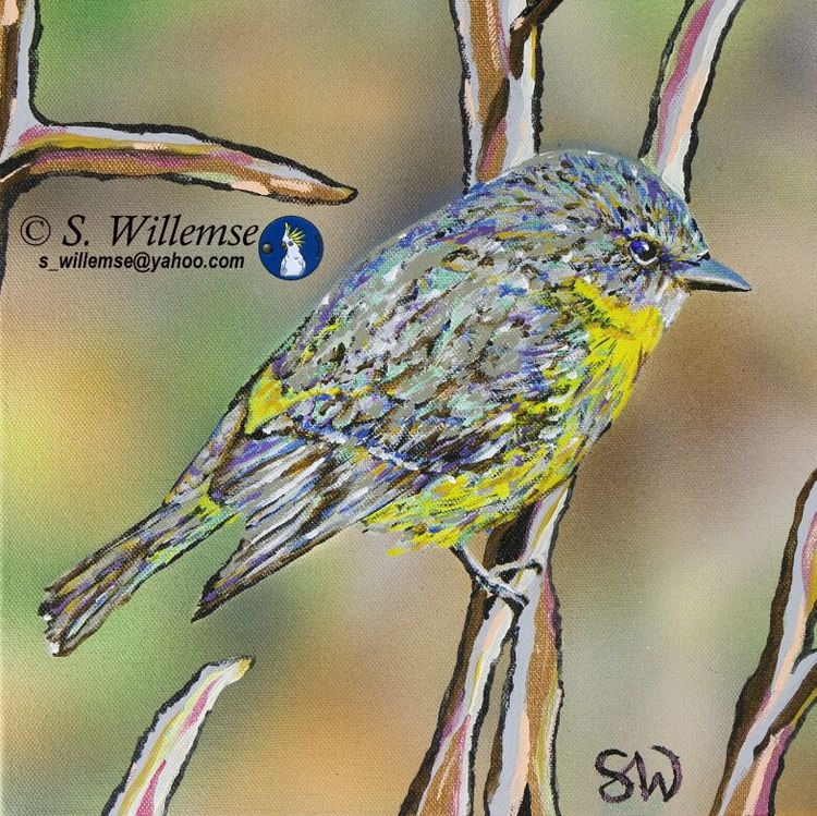 Yellow Robin by Susan Willemse - search and link Fine Art with ARTdefs.com
