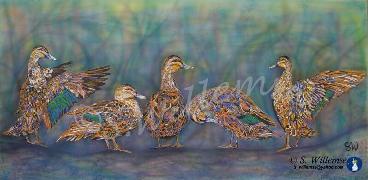 Ducks by Susan Willemse - search and link Fine Art with ARTdefs.com