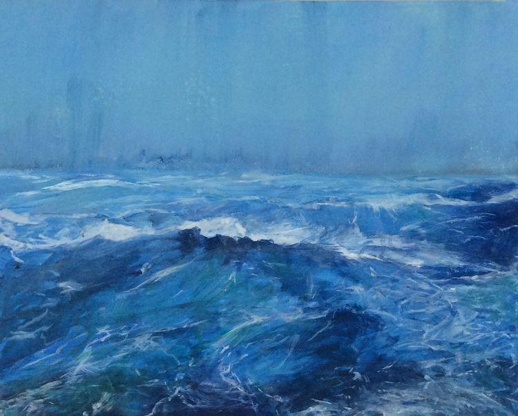Rough Seas by Steve McGuinness - search and link Fine Art with ARTdefs.com