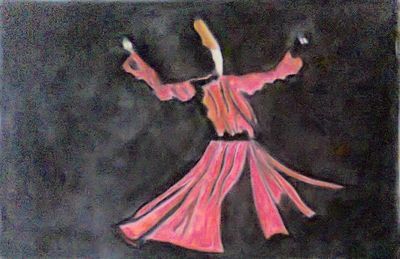 Title : Whirling Dervish, Rising From The Ashes by Suhail noor - search and link Fine Art with ARTdefs.com