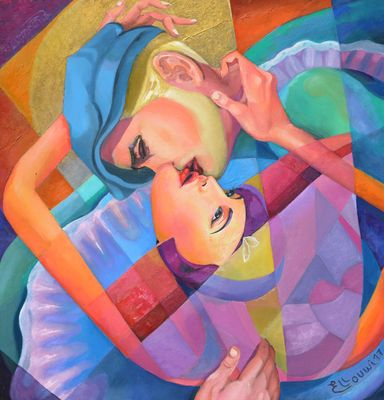 THE KISS OF A MAD SYMPHONY by Elloumi  Mourad - search and link Fine Art with ARTdefs.com