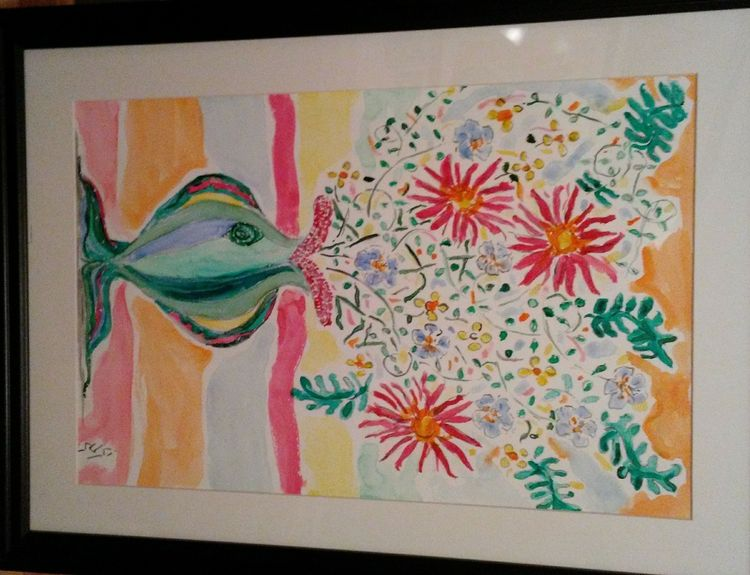 Fishlips Vase by Susan Royer - search and link Fine Art with ARTdefs.com
