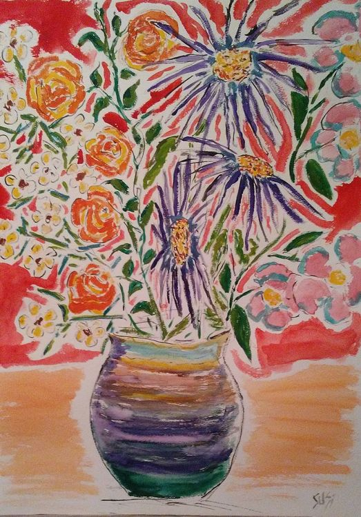 Rainbow Vase by Susan Royer - search and link Fine Art with ARTdefs.com