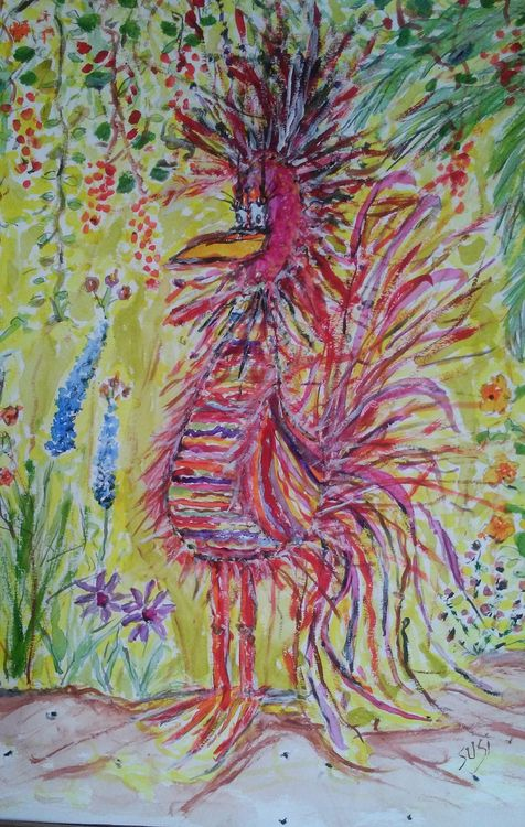 Strange Bird by Susan Royer - search and link Fine Art with ARTdefs.com