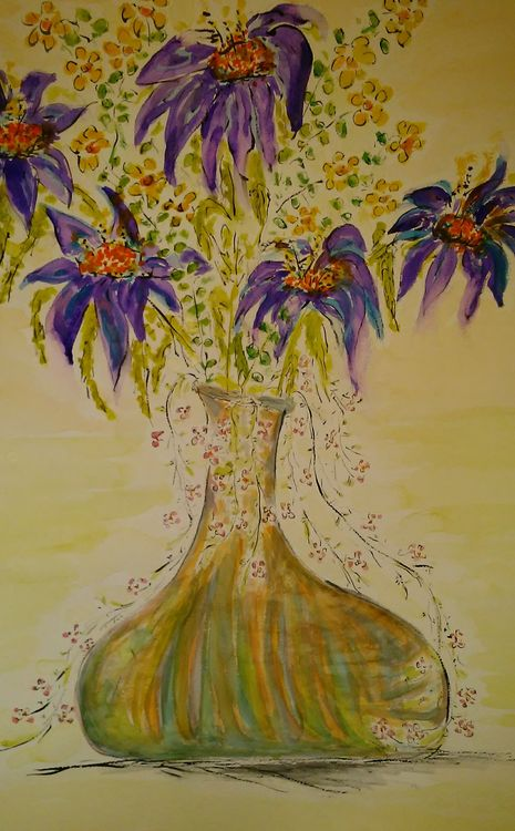 Jeannie Vase by Susan Royer - search and link Fine Art with ARTdefs.com