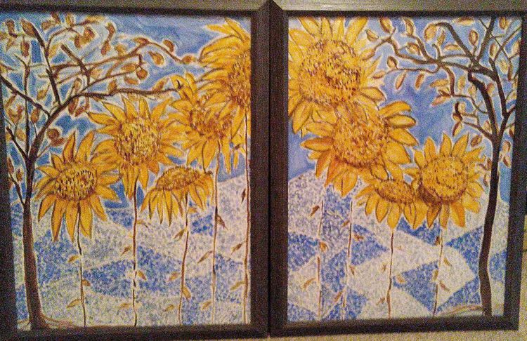 Bluesie Blooms by Susan Royer - search and link Fine Art with ARTdefs.com
