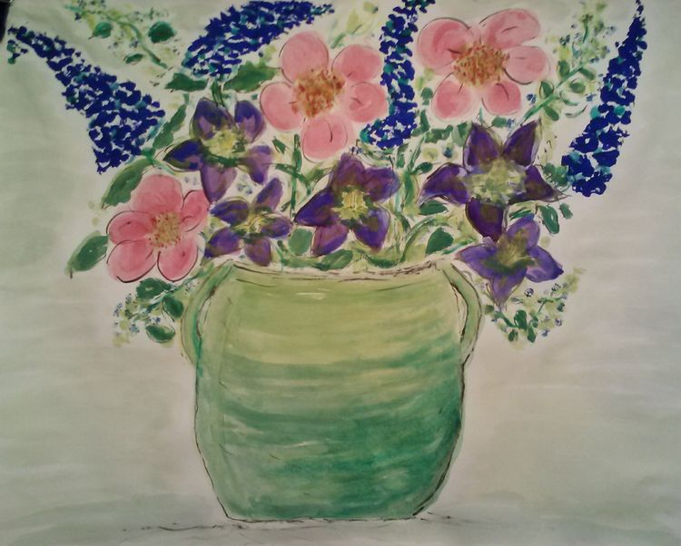 Lime Vase by Susan Royer - search and link Fine Art with ARTdefs.com