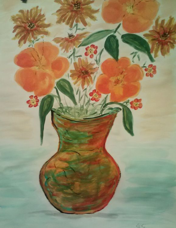 Orange Crush by Susan Royer - search and link Fine Art with ARTdefs.com