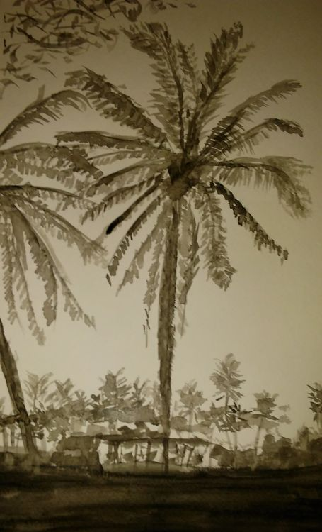 Playa Palm at Sunset by Susan Royer - search and link Fine Art with ARTdefs.com