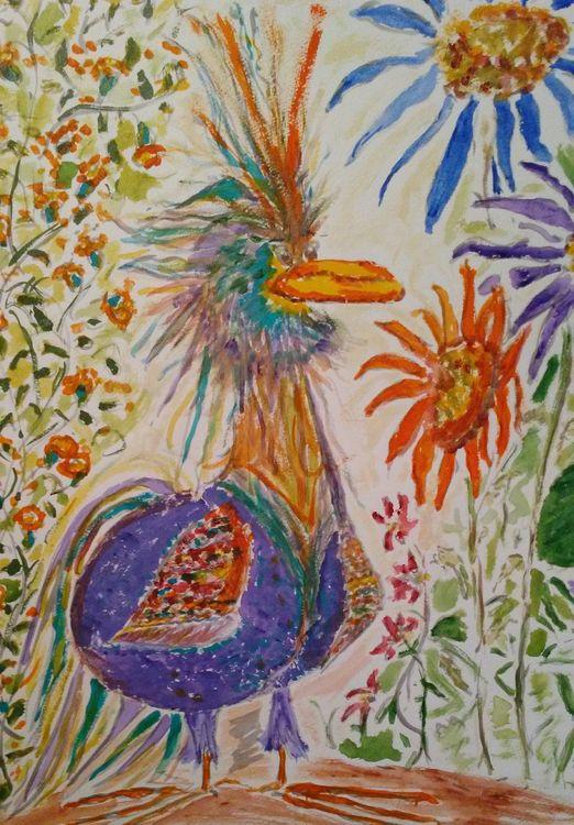 Smirkbird by Susan Royer - search and link Fine Art with ARTdefs.com
