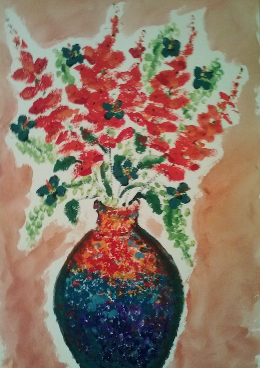 Textured Vase by Susan Royer - search and link Fine Art with ARTdefs.com