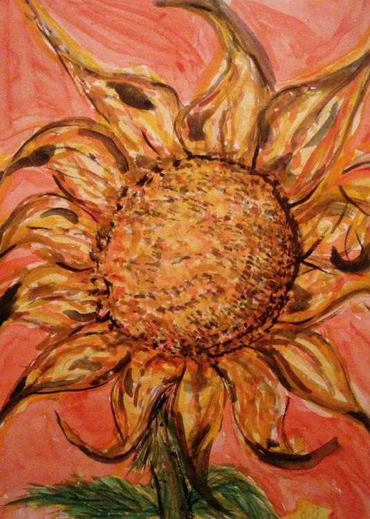 Kelli's Blooming Sunflower by Susan Royer - search and link Fine Art with ARTdefs.com