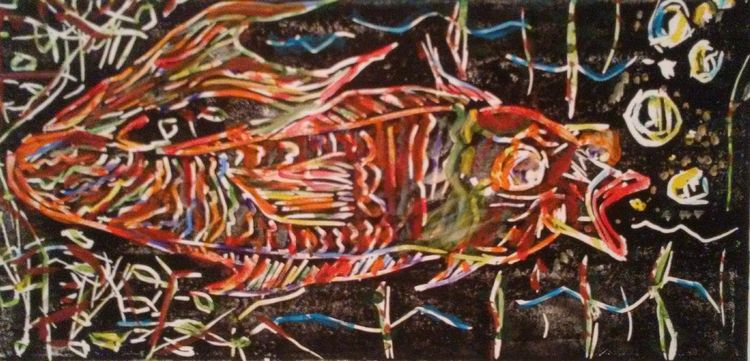 Mr. Bubblesfish by Susan Royer - search and link Fine Art with ARTdefs.com