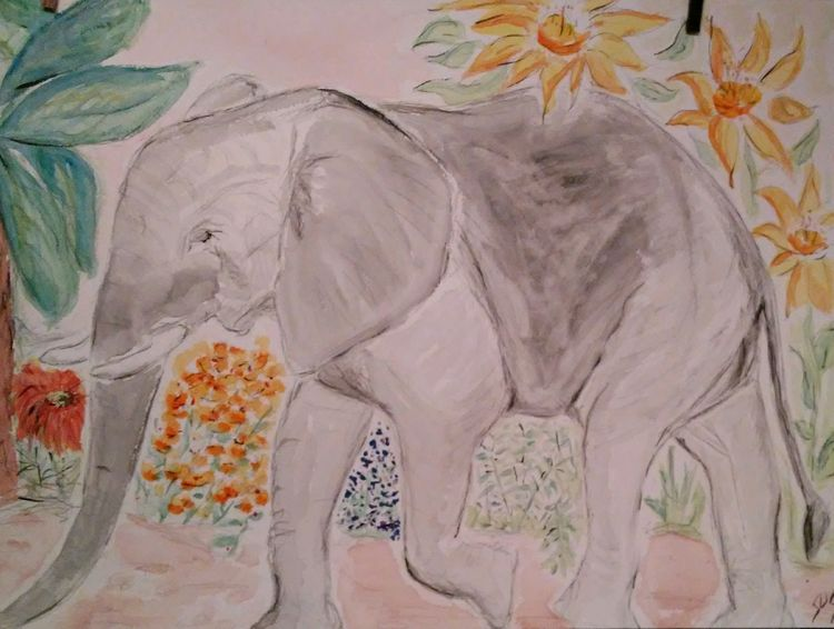 Elephant Walk by Susan Royer - search and link Fine Art with ARTdefs.com