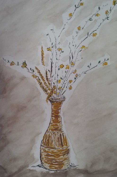 Mom's Straw Vase by Susan Royer - search and link Fine Art with ARTdefs.com