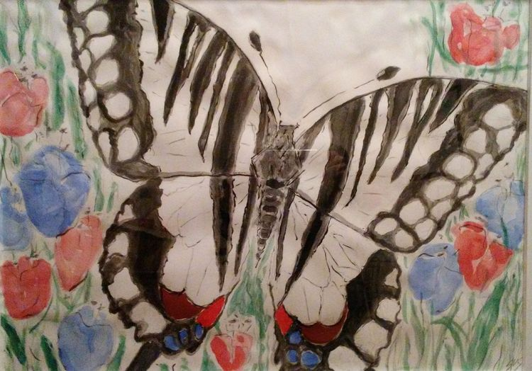 Zebra Swallowtail by Susan Royer - search and link Fine Art with ARTdefs.com