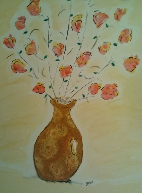 mom's swirl vase by Susan Royer - search and link Fine Art with ARTdefs.com