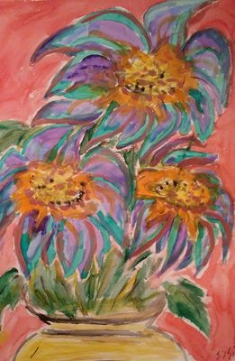 Moody Blooms by Susan Royer - search and link Fine Art with ARTdefs.com