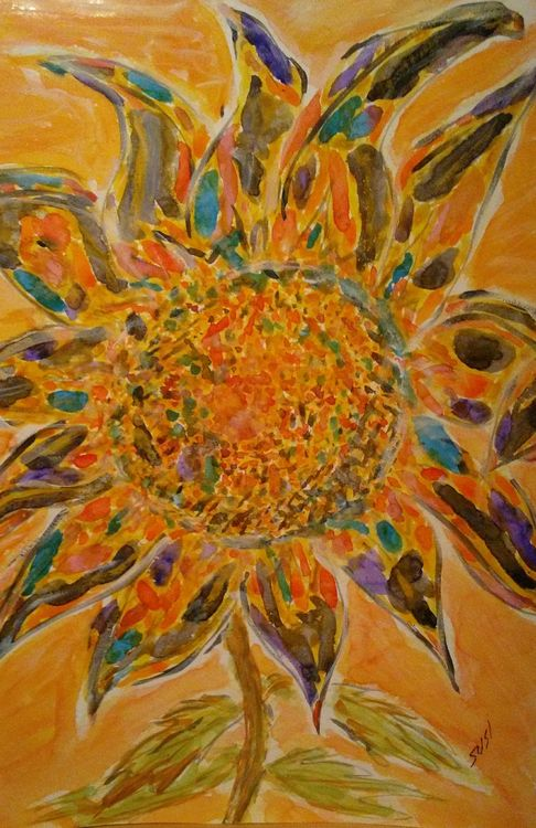 Colorburst Bloom by Susan Royer - search and link Fine Art with ARTdefs.com
