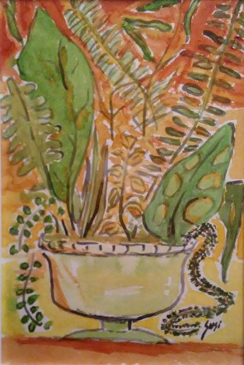 Greens Vase by Susan Royer - search and link Fine Art with ARTdefs.com