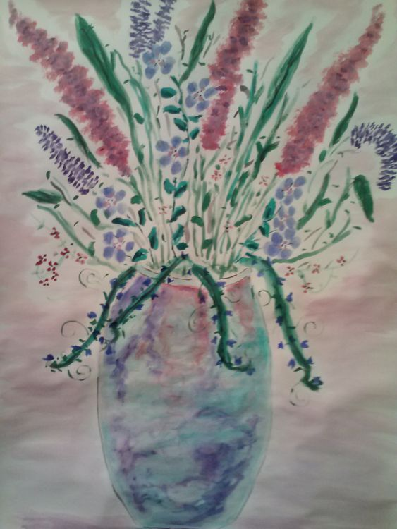 Blue Vase by Susan Royer - search and link Fine Art with ARTdefs.com