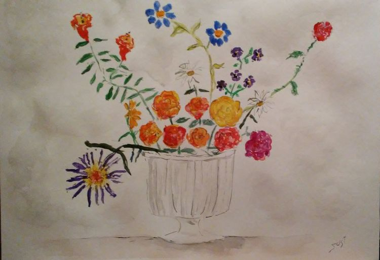 Simple Pleated Vase by Susan Royer - search and link Fine Art with ARTdefs.com