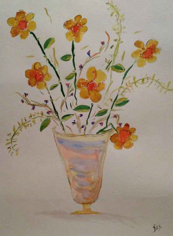 Pastel and Plainer Vase by Susan Royer - search and link Fine Art with ARTdefs.com