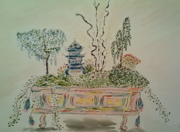 Fantasy Bonsai 3 by Susan Royer - search and link Fine Art with ARTdefs.com