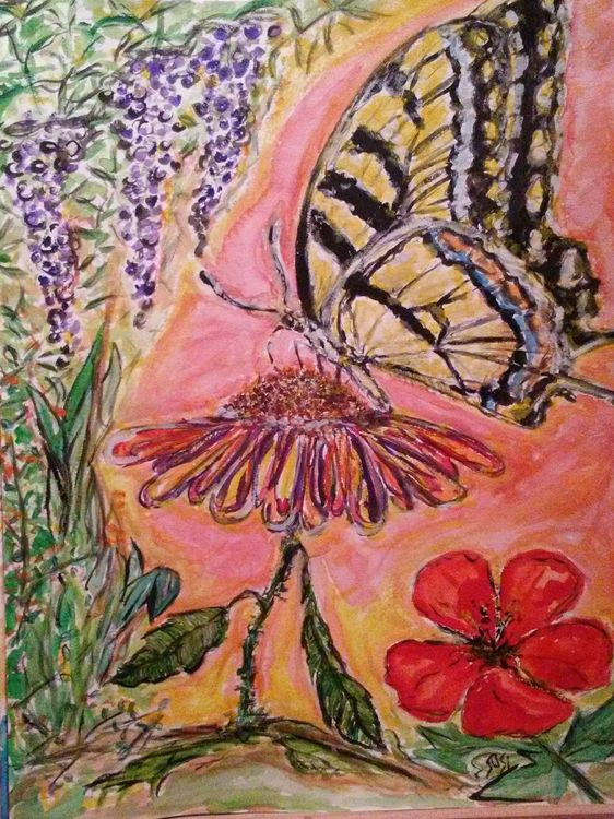 Tiger Swallowtail by Susan Royer - search and link Fine Art with ARTdefs.com
