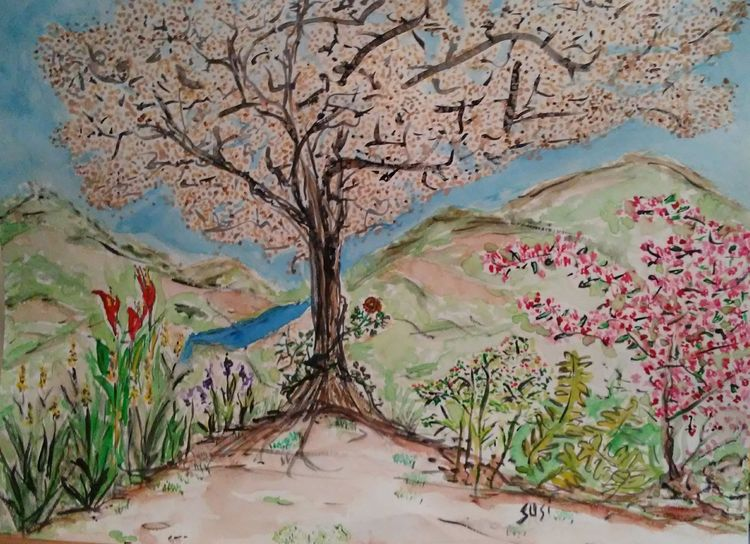 Tranquilitree by Susan Royer - search and link Fine Art with ARTdefs.com