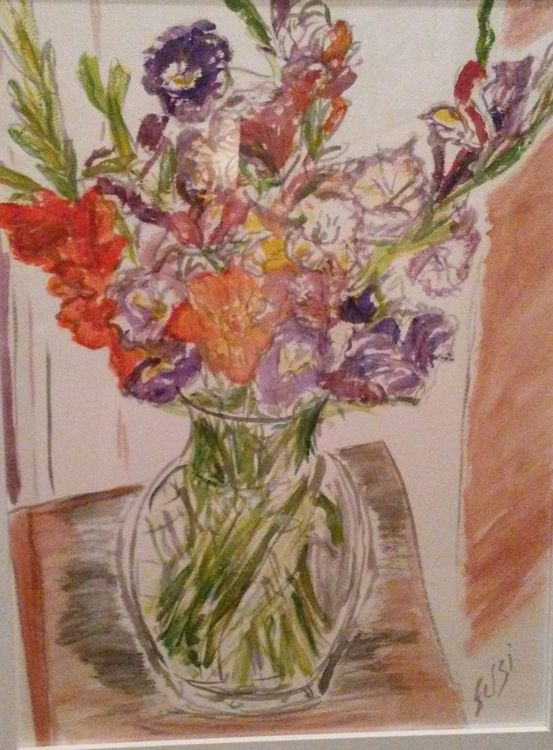 Linda's Glads by Susan Royer - search and link Fine Art with ARTdefs.com