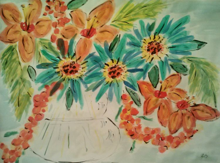 Flowerpop Vase by Susan Royer - search and link Fine Art with ARTdefs.com
