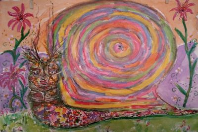 Snail Stare by Susan Royer - search and link Fine Art with ARTdefs.com