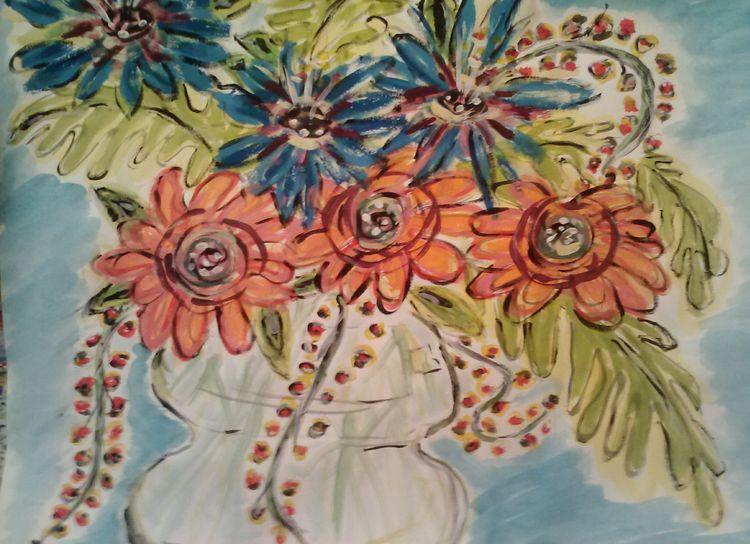 Florapop Vase by Susan Royer - search and link Fine Art with ARTdefs.com