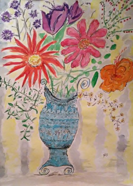 The Mermaid's Purse Vase by Susan Royer - search and link Fine Art with ARTdefs.com
