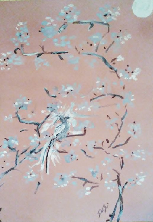 Moonwatcher Bird by Susan Royer - search and link Fine Art with ARTdefs.com