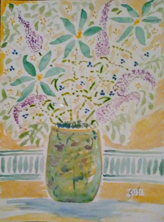 Tealtime Vase by Susan Royer - search and link Fine Art with ARTdefs.com