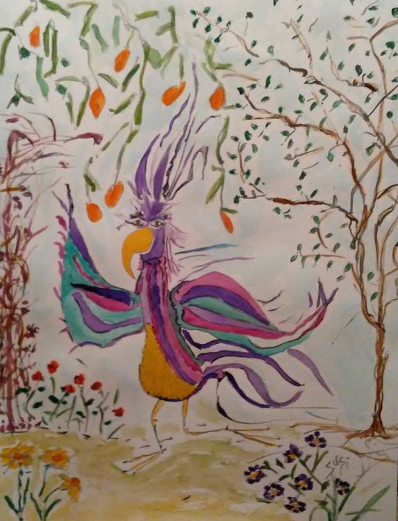 Wordbird by Susan Royer - search and link Fine Art with ARTdefs.com